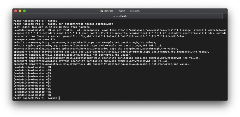 image from Kubectl and OC Command Output